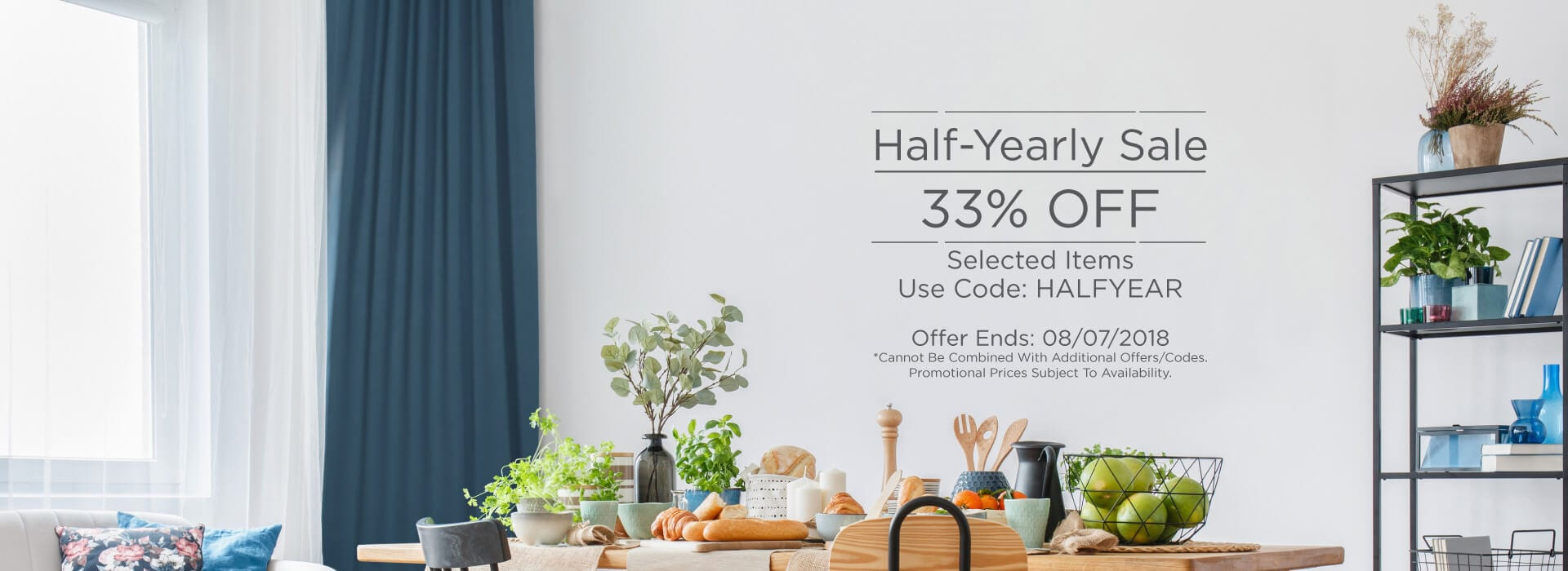 Half-Yearly Sale! 33% Off Selected Items