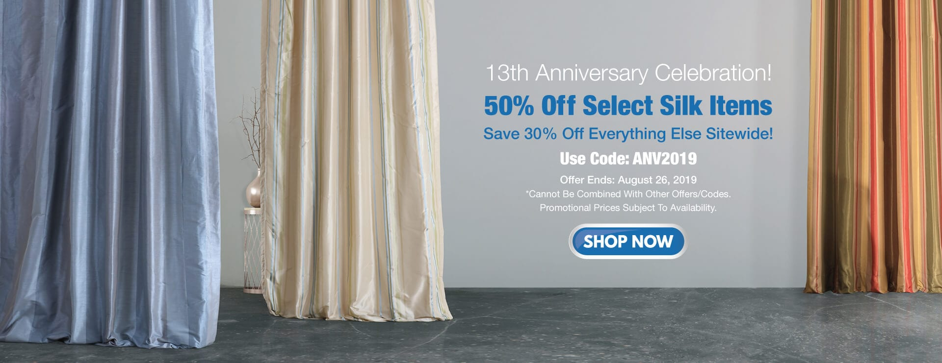 13th Anniversary Sale! Take  50% Off on selected items + 30% Off Site wide.