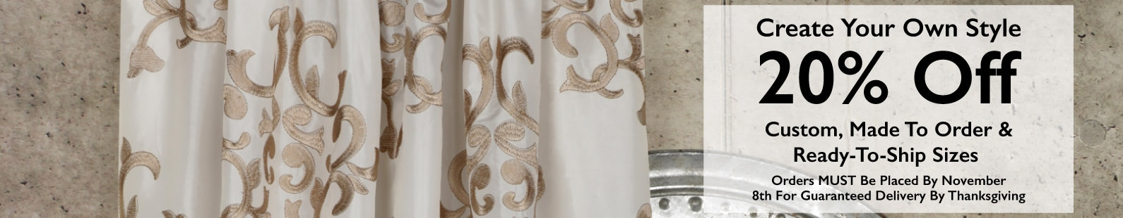 Signature Faux Silk Curtains