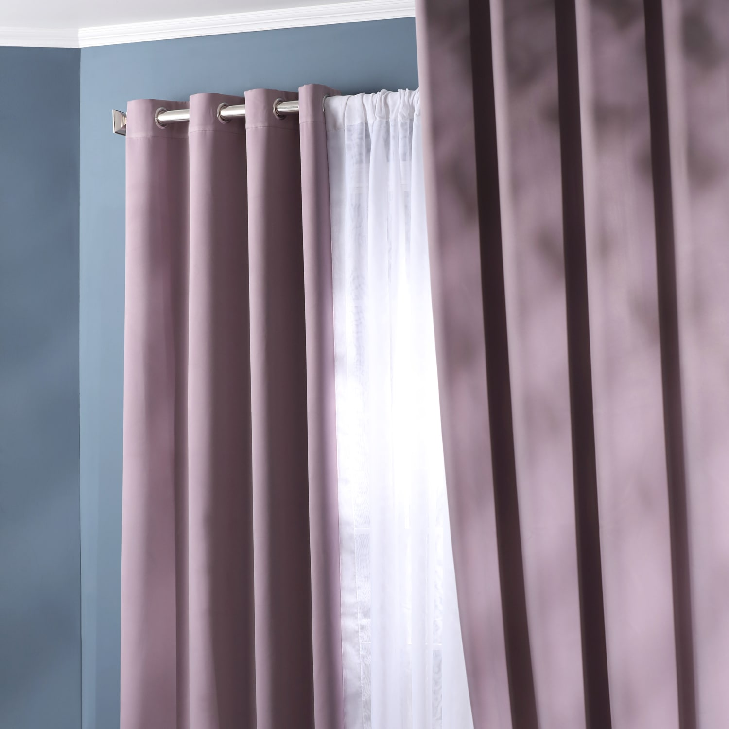 Purple Rain Grommet Blackout Room Darkening Curtain