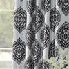 Donegal Grey Designer Printed Blackout Curtain