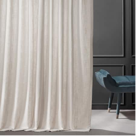 Coconut Cream Belgian Heavy Faux Linen Curtain