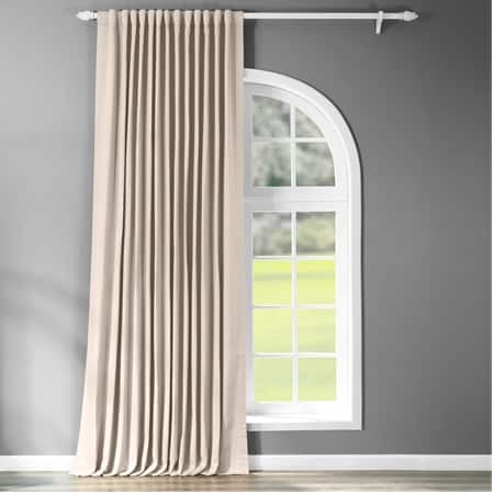 Eggnog Extra Wide Blackout Room Darkening Curtain