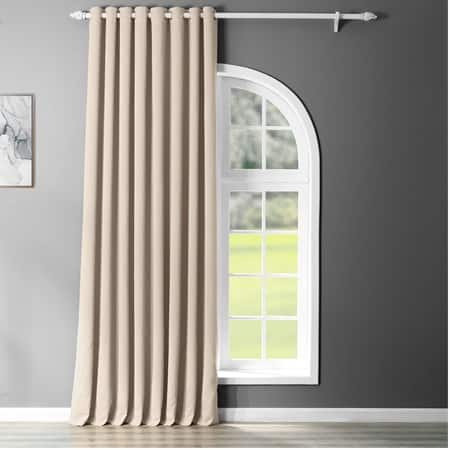 Eggnog Grommet Extra Wide Blackout Room Darkening Curtain