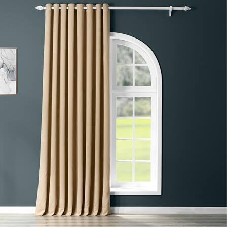 Biscotti Grommet Extra Wide Blackout Room Darkening Curtain