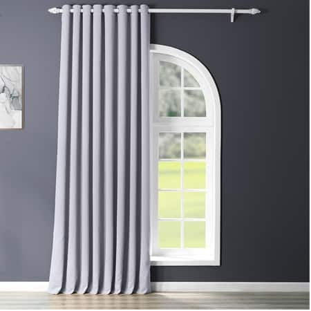 Fog Grey Grommet Extrawide Blackout Curtain