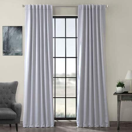 Fog Grey Blackout Room Darkening Curtain
