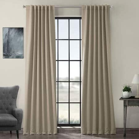 Classic Taupe Room Darkening Curtain