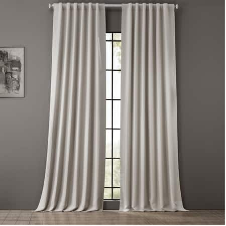 Smokey Cream Room Darkening Curtain