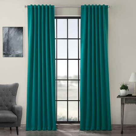 Nordic Green Room Darkening Curtain