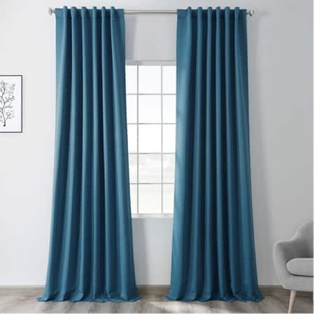 Tsunami Blue Blackout Room Darkening Curtain