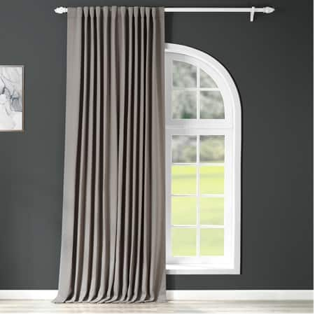 Neutral Grey Extra Wide Blackout Room Darkening Curtain