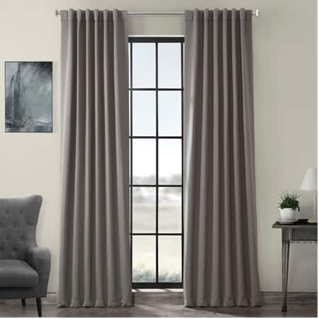Neutral Grey Pole Pocket Room Darkening Curtain