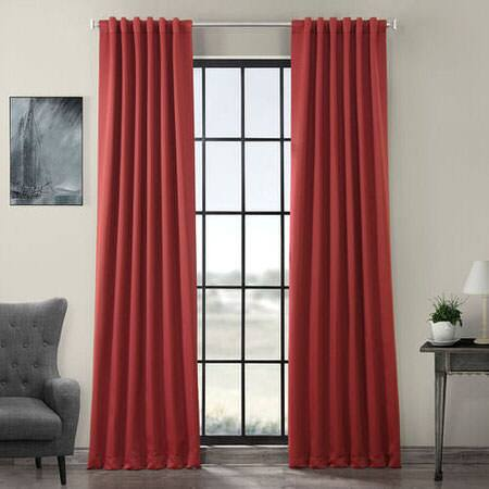 Brick Red Blackout Room Darkening Curtain
