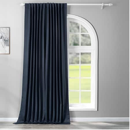 Navy Blue Extra Wide Blackout Room Darkening Curtain