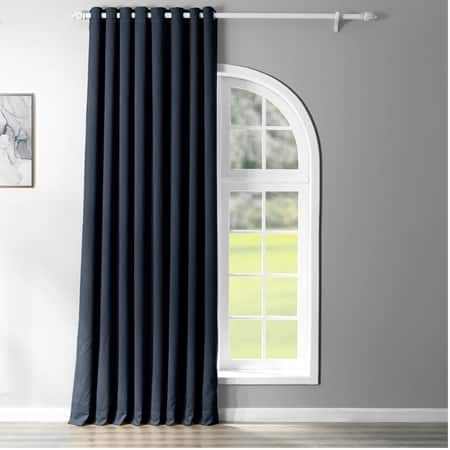 Navy Blue Grommet Extra Wide Blackout Room Darkening Curtain
