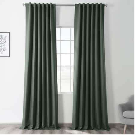 Dark Mallard Green Room Darkening Curtain