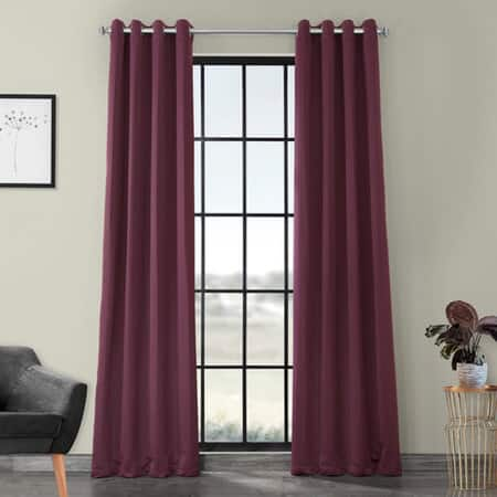 Aubergine Grommet Blackout Room Darkening Curtain