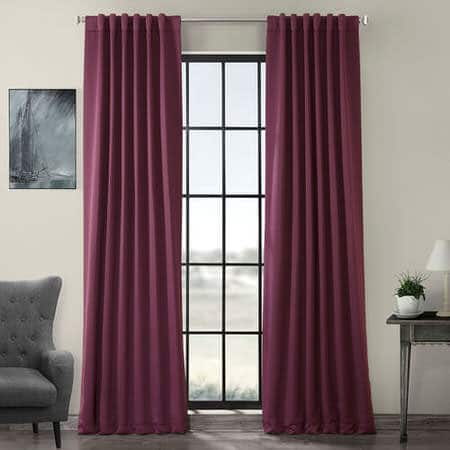 Aubergine Room Darkening Curtain