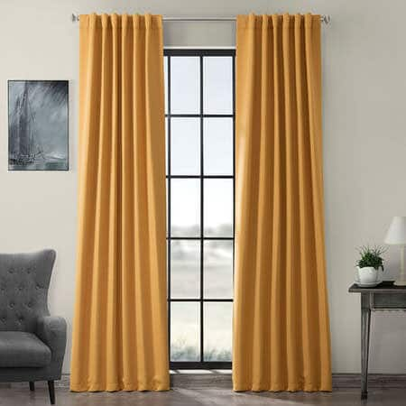 Marigold Room Darkening Curtain