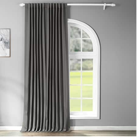 Anthracite Grey Extra Wide Blackout Room Darkening Curtain