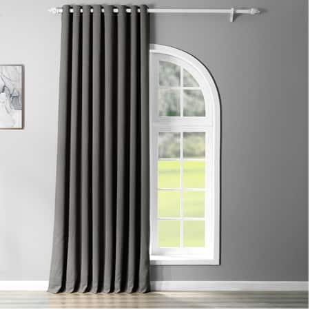 Anthracite Grey Grommet Extra Wide Blackout Room Darkening Curtain