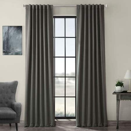 Anthracite Grey Blackout Room Darkening Curtain
