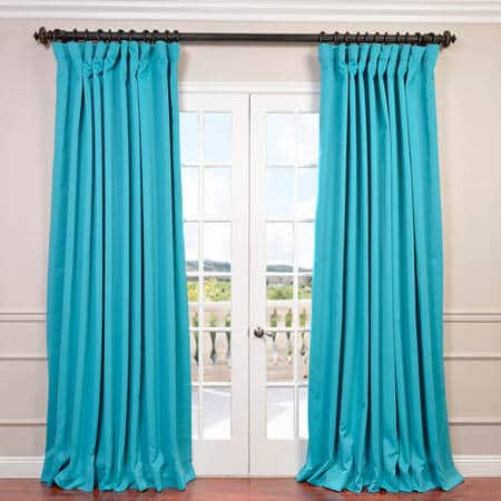 Turquoise Blue Extra Wide Blackout Curtain