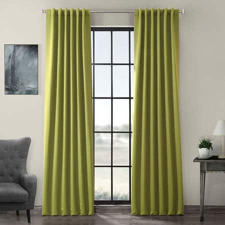 Moss Green Room Darkening Curtain