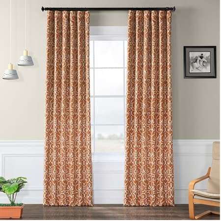 Nouveau Rust Blackout Room Darkening Curtain