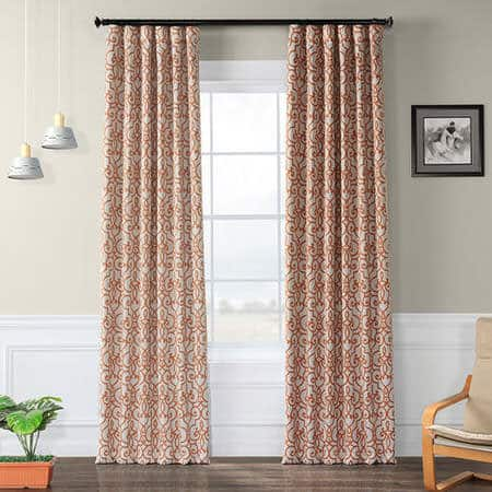 Nouveau Tan Room Darkening Curtain