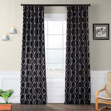 Cordon Black Blackout Room Darkening Curtain