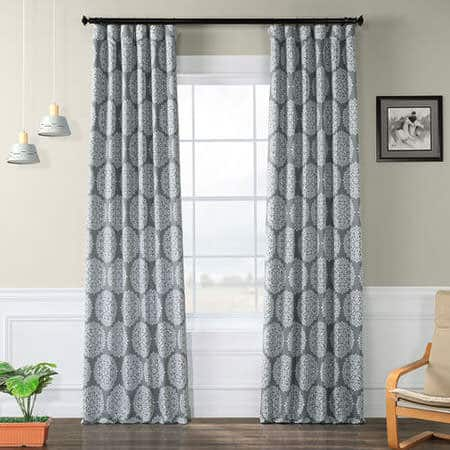 Meridian Grey Room Darkening Curtain