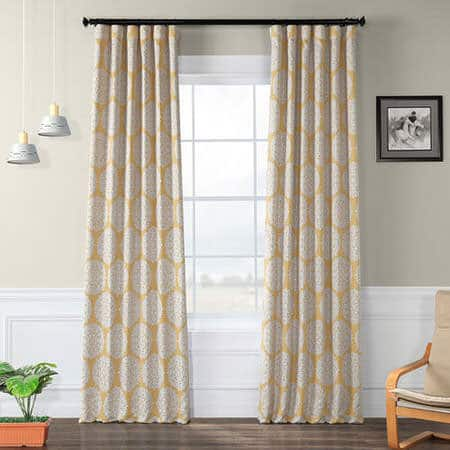 Meridian Gold Room Darkening Curtain
