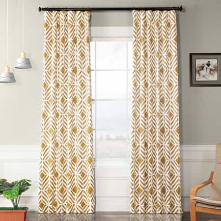 Palisade Gold Blackout Room Darkening Curtain