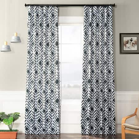 Palisade Charcoal Blackout Room Darkening Curtain