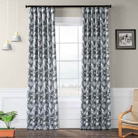 Sweet Pea Grey Blackout Room Darkening Curtain