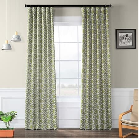 Secret Garden Leaf Green Room Darkening Curtain