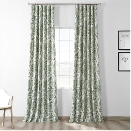 Tea Time Green Blackout Room Darkening Curtain