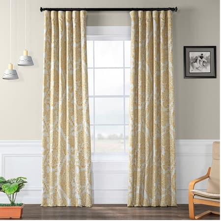 Tea Time Yellow Gold Room Darkening Curtain
