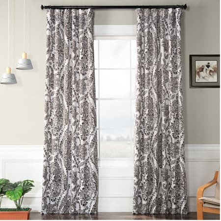 Tea Time Ochre Blackout Curtain