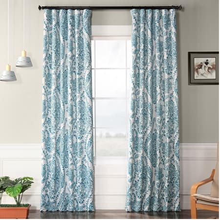 Tea Time Teal Room Darkening Curtain