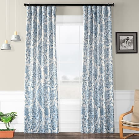 Tea Time China Blue Room Darkening Curtain