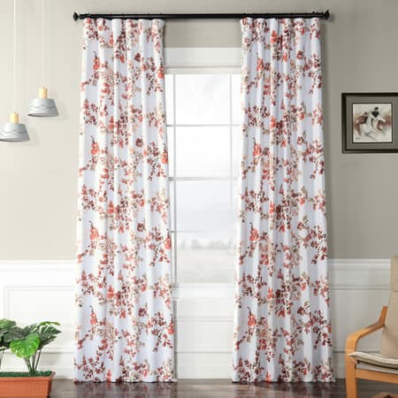 Rose Elm Room Darkening Curtain