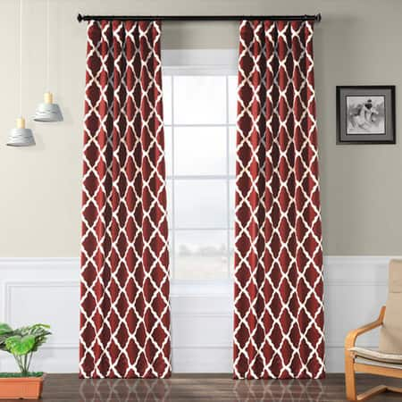 Trellise Room Darkening Curtain