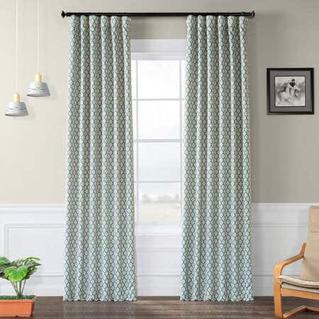 Casablanca Teal Room Darkening Curtain