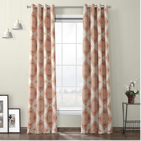 Henna Grommet Blackout Room Darkening Curtain