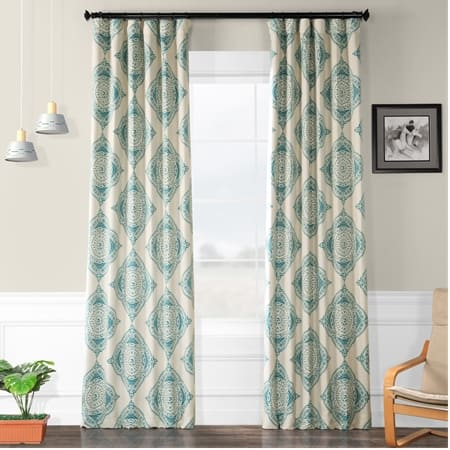 Henna Teal Room Darkening Curtain