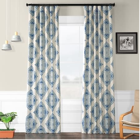 Henna Blue Room Darkening Curtain