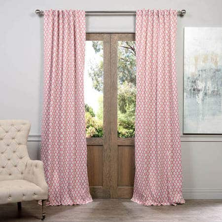 Casablanca Rose Blackout Room Darkening Curtain